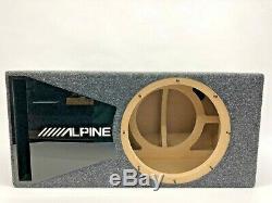 Caisson De Grave Encastré Alpine X-w12d4 Special Edition Avec Habillage De Port En Plexi Noir