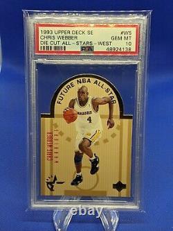 Chris Webber Rookie 1993-94 Ud Se Die-cut All Stars West #w5 Psa 10 Pop 4 Rare