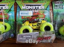 Complet Zombie Invasion Vs Hunter Doubles & Singles Lot (6) Spin Jam Monster Trucks