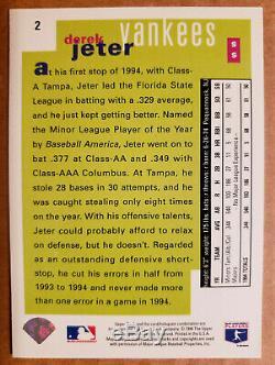 Derek Jeter Auto 1995 Upper Deck Choice Edition Collector Spéciale Autograph