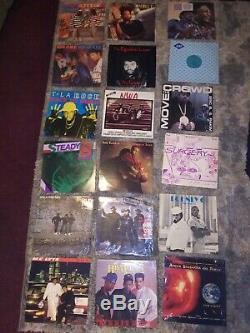 Disque Vinyle Lot De 100 Rap, R & B, Hip Hop & More Dj 1980 Collection Promo