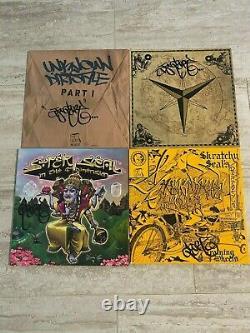 Dj Autographié Qbert Dirtstyle/thud Rumble Vinyl Collection 28 Lot Lire Desc