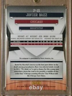Donruss Elite Extra Edition 2011 Javier Baez Prospects Auto Rc Rookie 5/5
