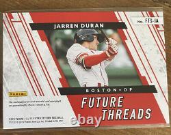 Édition Elite Extra 2019 Jarren Duran Future Threads Patch Auto /15 Red Sox