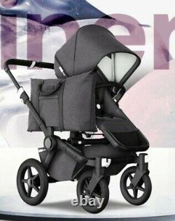 Édition Spéciale Complete Bugaboo Donkey3 Pushchair Mono - Mineral Laved Black