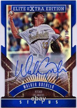 Édition Supplémentaire Panini Elite 2015 Walker Buehler Blue Status Auto /50 Dodgers