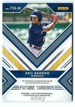 Elite Extra Edition 2017 Future Threads Akil Baddoo Jersey Auto #98/99