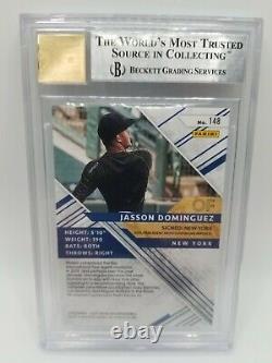 Elite Extra Edition 2019 Jasson Dominguez Emerald Auto Bgs 9 Yankees /25