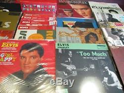 Elvis Presley Collection De Vinyl Out Surtout Rare De Titres D'impression 21 Avec 32 Sides