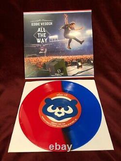 Enregistrements Third Man Chicago Cubs Eddie Vedder Bleu / Rouge Vinyle 7 45 Enregistrement Mint