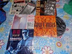 Guns And Roses, Lots, Lps, Venezuela, + Inserts, Rock, Maxi Singles, Vg++