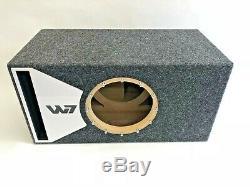 Jl Audio 10w7 Boîtier De Caisson De Graves À Portage Ae Special Edition Avec Habillage De Port Plexi Blanc