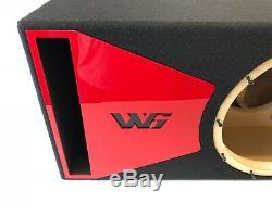 Jl Audio 12w6v3 Caisson De Subwoofer Avec Port Special Edition Avec Garniture De Port Plexi Rouge