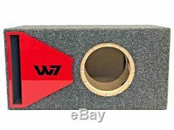 Jl Audio 8w7 Boîtier De Caisson De Graves À Portage Ae Special Edition Avec Habillage De Port Plexi Rouge