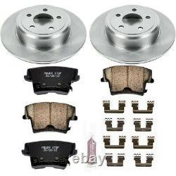 Koe1719 Powerstop Brake Disc And Pad Kits 2-wheel Set Rear New Pour Chrysler 300