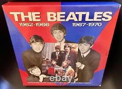 La Boîte Beatles Set Rouge Bleu Avec Certificat & Livres 1993 Limitedcollecteurs Edt
