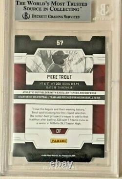 Mike Trout 2009 Donruss Elite Extra Edition Status #57/100 Bgs 9