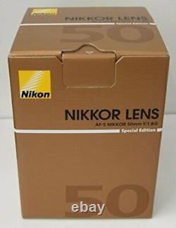 Nikon Mise Au Point Unique Objectif Af-s Nikkor 50 MM F / 1.8g (special Edition) Pleine Grandeur Co