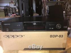 Oppo Bdp-83 Special Edition 83se Lecteur Blu-ray Avec Télécommande Unique Propriétaire Mint