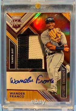 Panini Elite Édition Extra 2018 Wander Franco Patch Auto 16/25 #1 Propect In Mlb