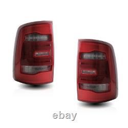 Pour 09-18 Ram 1500 2500 3500 Led Tail Lights Red Clear Lens Fit Lampe À Led Halogen