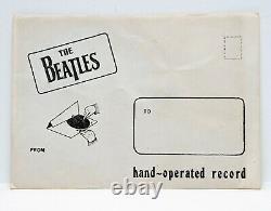 Rare! Les Beatles! Message De Noël 1963! Opéré À La Main La Fiche 5 Flexi-disque