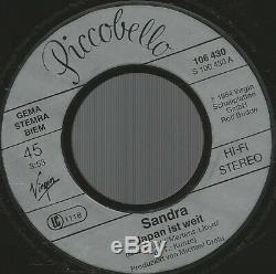 Sandra Japon Ist Weit (big In Japan) Mega Rare 7 Secondes Lp 45 Italo Disco