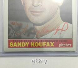 Sandy Koufax Autographe Édition Spéciale Real One # D / 66 2015 Topps Heritage Auto