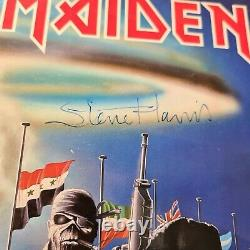 Signé /autographié Iron Maiden 2 Min To Midnight 12 Vinyl