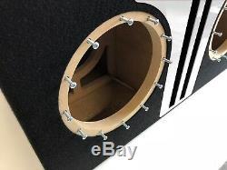 Sous-boîte À Double Accès Jl Audio 10w7 Ae Special Edition Avec Habillage De Port Plexi Blanc