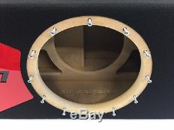 Sous-boîte Portée Jl Audio 12w7 Ae Special Edition Avec Habillage De Port Plexi Rouge