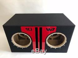 Sous-boîtier Double Port Jl Audio 10w7 Ae Special Edition Avec Garniture De Port Plexi Rouge