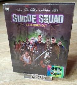 Suicide Squad Hdzeta Unique Lenti Joker Édition 2d / 3d Blu-ray Steelbook Nouveau