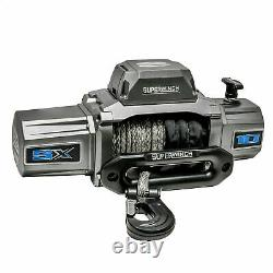 Superwinch Sx10000sr 12vdc Winch 10000lbs Single Line Pull 80' Corde Synthétique