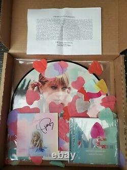 Taylor Swift & Signe Autographed Lover CD Livret Unique Et Picture Disc