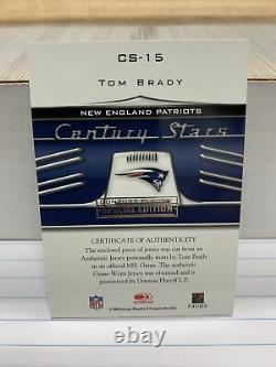 Tom Brady Jersey Card 2006 Donruss Threads Edition Spéciale