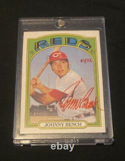 Topps 2021 Patrimoine Johnny Bench Real One Special Edition Red Ink Auto 1/72 Roa