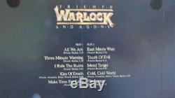 Warlock (doro) Triumph Et Agonie LIM Promo. Photo Vinyle + Affichage Heavy Metal