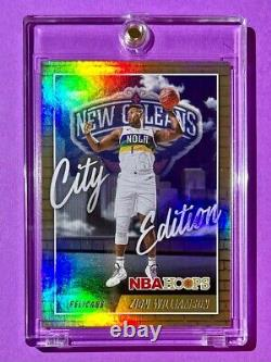 Zion Williamson City Edition Holo Finish Special Nba Hoops Insert 2nd Year Mint